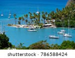 Aerial View Of Marigot Bay In...