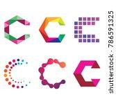 abstract modern c letter... | Shutterstock .eps vector #786591325