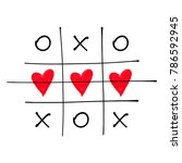 tic tac toe game with criss... | Shutterstock .eps vector #786592945