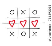tic tac toe game with criss... | Shutterstock .eps vector #786593095