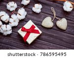 valentine s day still life with ... | Shutterstock . vector #786595495