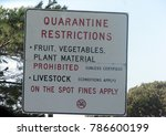 quarantine sign at a state... | Shutterstock . vector #786600199