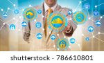 unrecognizable it operations... | Shutterstock . vector #786610801
