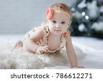 adorable two month old baby... | Shutterstock . vector #786612271