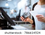 young woman hand doing process... | Shutterstock . vector #786614524