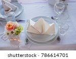 wedding table in the restaurant   Shutterstock . vector #786614701