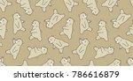 bear seamless pattern polar... | Shutterstock .eps vector #786616879