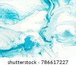 blue creative abstract hand...   Shutterstock . vector #786617227