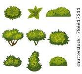 set of bushes for games ... | Shutterstock .eps vector #786617311