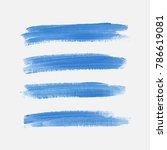 acrylic art brush painted... | Shutterstock .eps vector #786619081