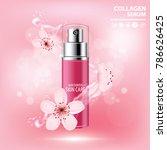 sukura   cherry blossom... | Shutterstock .eps vector #786626425