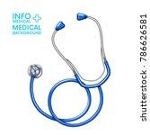 medical stethoscope.background... | Shutterstock .eps vector #786626581