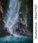 veils of spray on a waterfall...   Shutterstock . vector #786627037