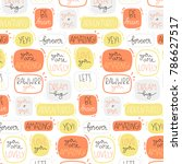 cute pattern with dofferent... | Shutterstock .eps vector #786627517