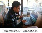 businessman working with... | Shutterstock . vector #786635551