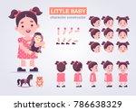 happy little kid girl character ...   Shutterstock .eps vector #786638329