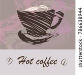 vector stylish hot coffee cup... | Shutterstock .eps vector #786638944