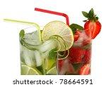 strawberry and classical mojito | Shutterstock . vector #78664591
