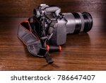 modern dslr camera on a dark...   Shutterstock . vector #786647407