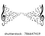 musical symbols with musical... | Shutterstock . vector #786647419