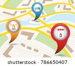 set of tourism services map... | Shutterstock .eps vector #786650407