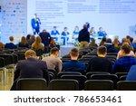people attend business... | Shutterstock . vector #786653461
