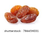 raisins in closeup on a white... | Shutterstock . vector #786654031