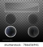 set of transparent glass on... | Shutterstock .eps vector #786656941