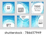 abstract vector layout... | Shutterstock .eps vector #786657949