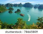 picturesque sea landscape. ha... | Shutterstock . vector #78665809