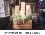 wedding seating plan displayed... | Shutterstock . vector #786663097
