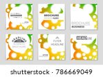abstract vector layout... | Shutterstock .eps vector #786669049