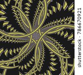 abstract fractal background... | Shutterstock . vector #786670921