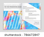 abstract vector layout... | Shutterstock .eps vector #786672847