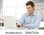 young businessman working in... | Shutterstock . vector #78667324