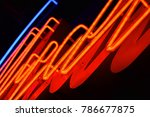 abstact red neon sign with a... | Shutterstock . vector #786677875