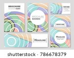 abstract vector layout... | Shutterstock .eps vector #786678379