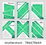 abstract vector layout... | Shutterstock .eps vector #786678664