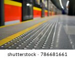 metal tactile strips with an... | Shutterstock . vector #786681661