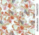 seamless background. flowers.... | Shutterstock . vector #786682519
