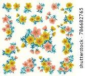 floral arrangements in small...   Shutterstock .eps vector #786682765