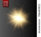 star burst with dust and... | Shutterstock .eps vector #786683821