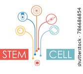 different human cell types icon ... | Shutterstock .eps vector #786686854
