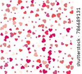 flying heart confetti ... | Shutterstock .eps vector #786689131