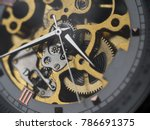 mechanical skeleton watch with... | Shutterstock . vector #786691375
