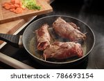 praparing beef roulades  the... | Shutterstock . vector #786693154