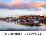 Harbor Of Ghent  Belgium. Boat...