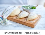 preparation of homemade pies... | Shutterstock . vector #786695014