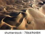 Aerial View Of Sand Dunes At...