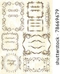 big set of decorative elements | Shutterstock .eps vector #78669679